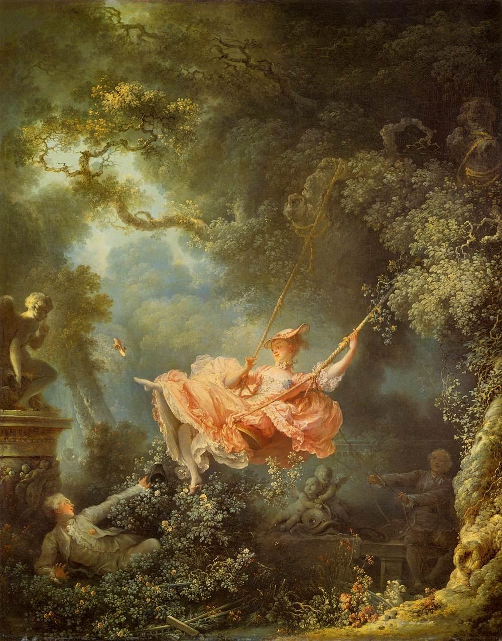 7 - A famosa pintura  'O Balanço'  (1766), do francês Jean-Honoré Fragonard