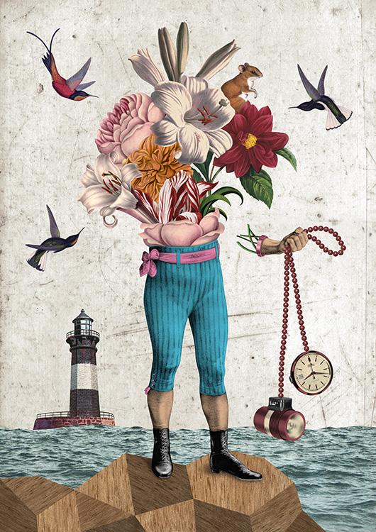 24 - A colagem digital de Randy Mora, em  'Esperándote'  (2012)