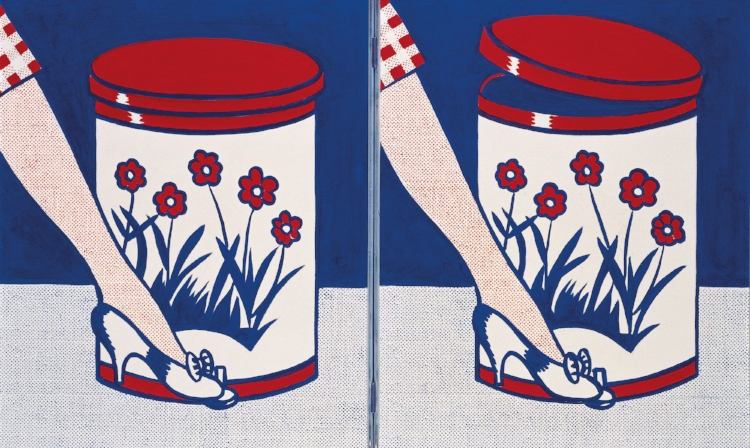 23 - Ironia e Pop-Art em  'Step-On Can With Leg'  (1961), de  Roy Lichtenstein
