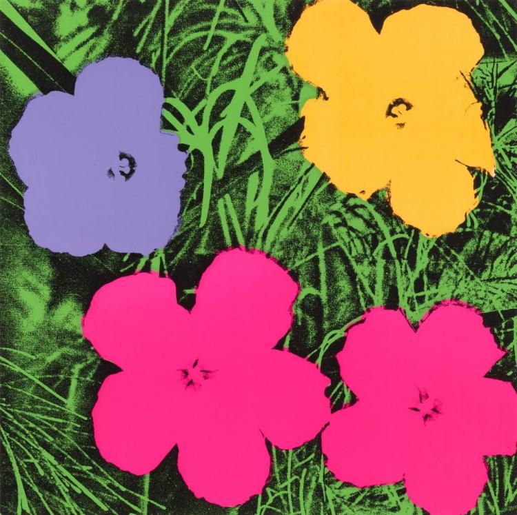 22 -  'Flores'  (1964), de Andy Warhol