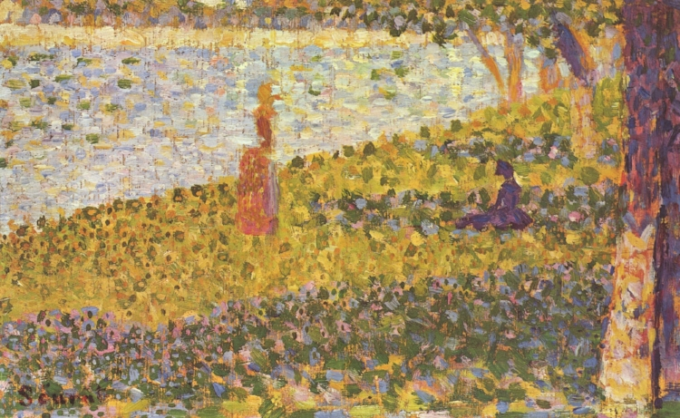 14 -  'Women On The River Bank'  (1885), de Georges Seurat