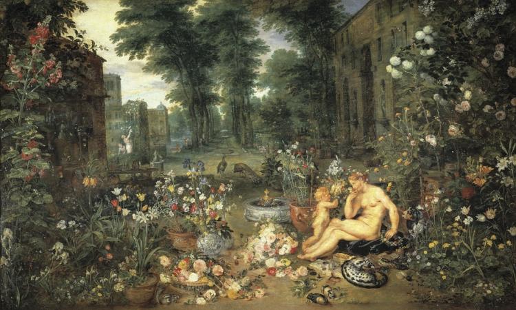 5 -  'O Sentido do Cheiro'  (1618), da parceria entre os artistas Jan Bruegel e Peter Rubens Paul
