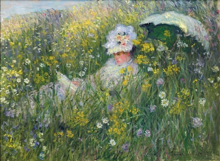 11 -  'Na Pradaria'  (1876), de Claude Monet