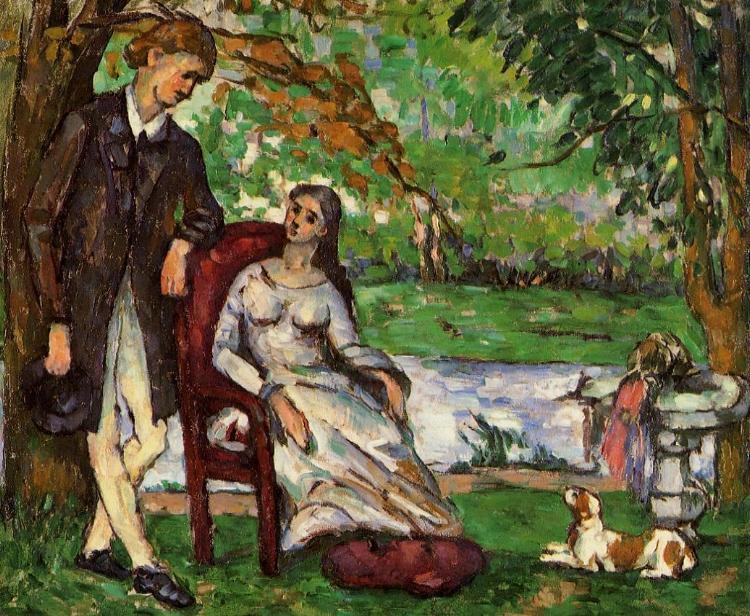 12 -  'Casal no Jardim'  (1873), de Paul Cézanne