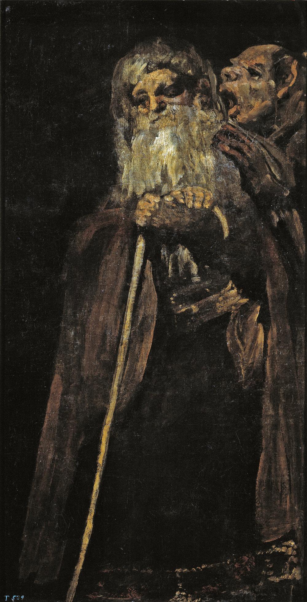 Francisco Goya,  'Dois Velhos ou Um Velho e um Monge'