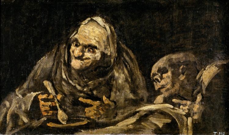 Francisco Goya,  'Dois Velhos Comendo Sopa'