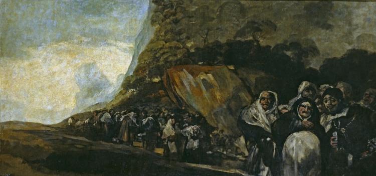 Francisco Goya,  'Perigrinação à Fonte de San Isidro ou procissão do Santo Ofício'