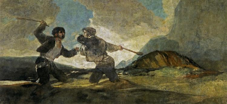 F rancisco Goya,  'Duelo a Garrotazos'