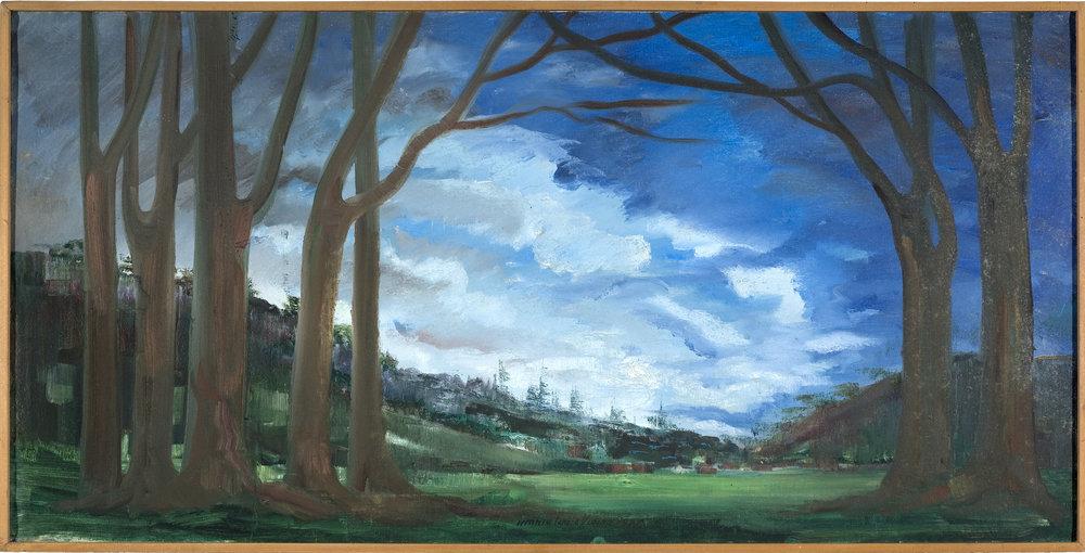 A pintura de 1982 de Maria Teresa Vieira, é uma das peças mais antigas do acervo da Pinacoteca