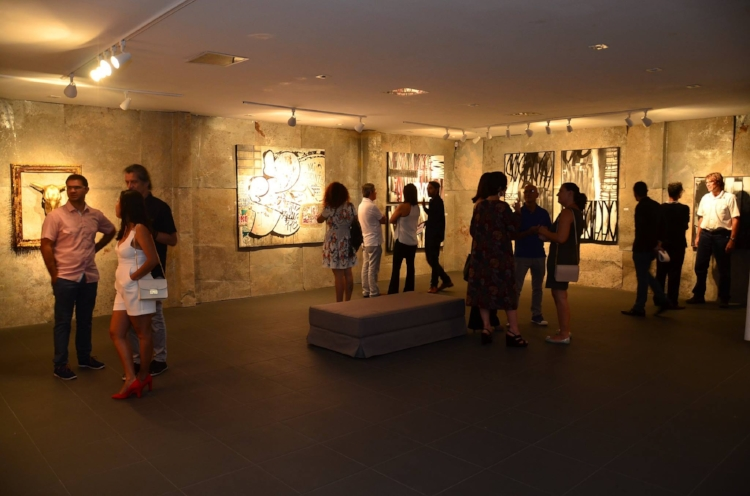 A Galeria Gamma no dia da abertura da exposição  'Menu Degustação'