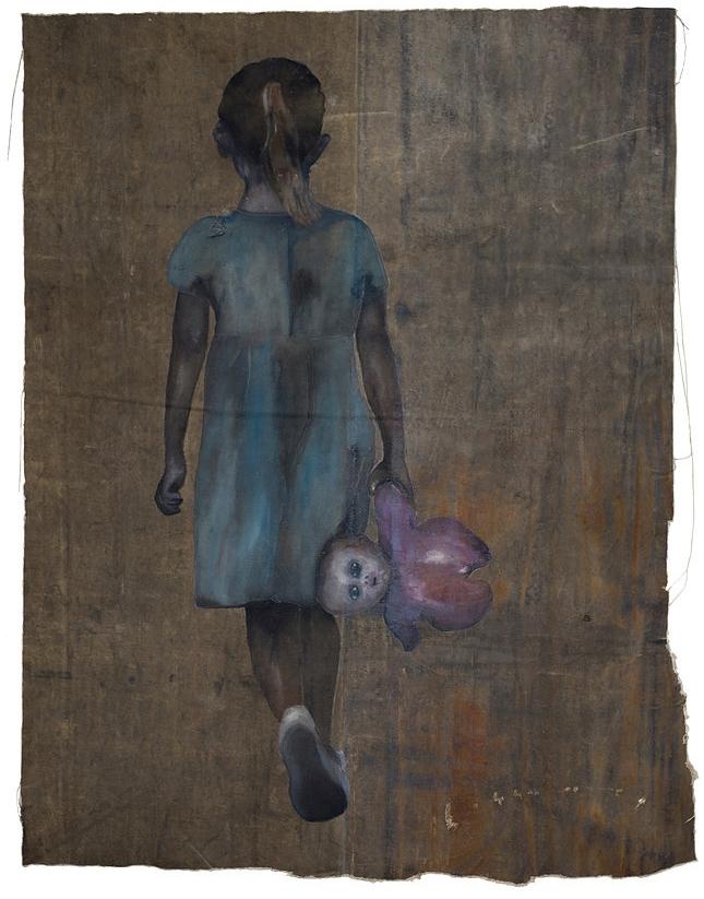 Meninas e suas bonecas. Na exposição, o campo de interesse de Eugênia investiga como se dá essa relação simbólica