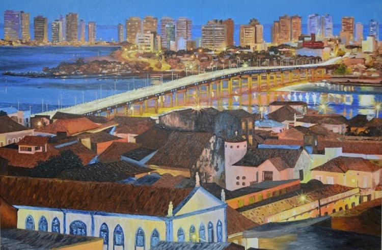O aspecto quase  naïf  das telas de Victor Rego refletem seu aprendizado autodidata na pintura