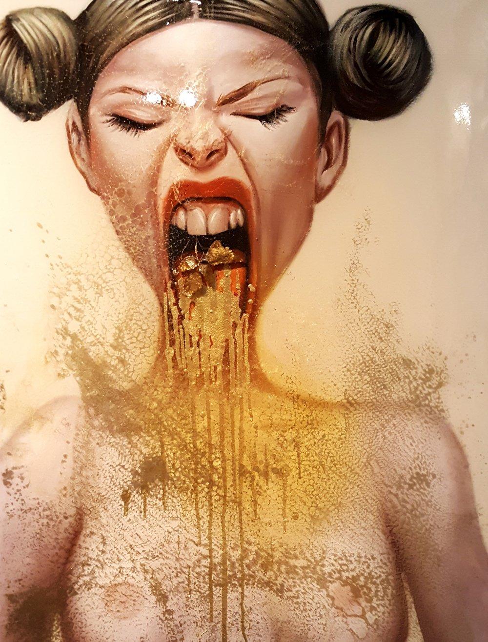 Obra da exposição  'Menu Degustação' , ainda em cartaz