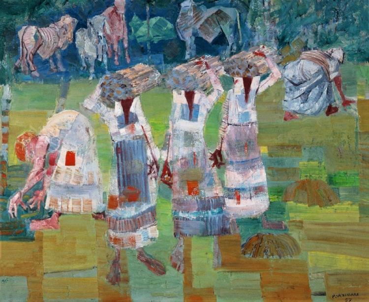 10 -  'Mulheres Carregando Lenha'  (1957), Cândido Portinari