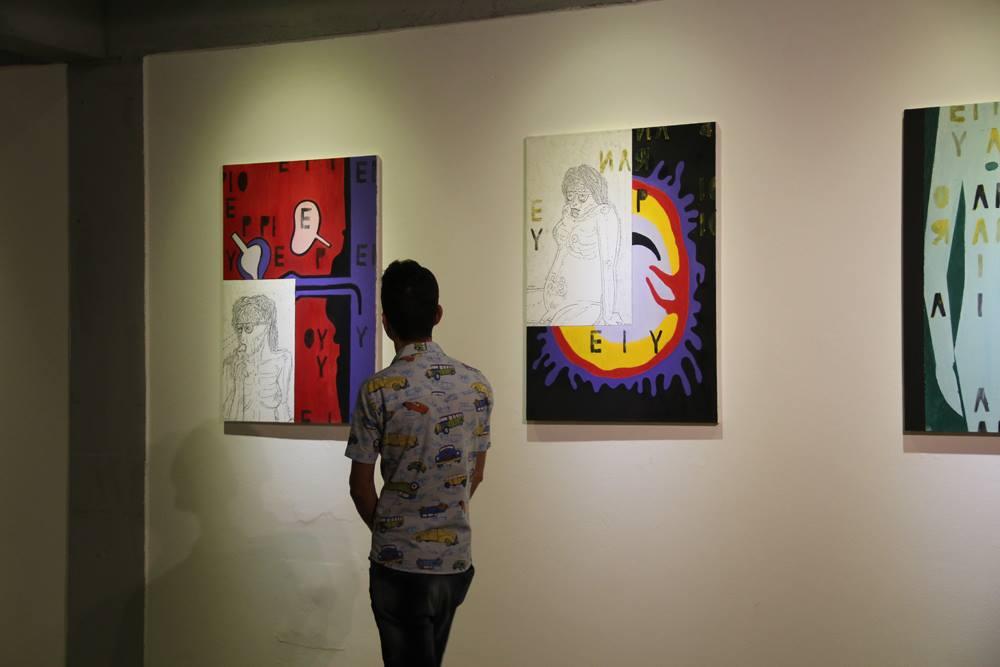 As telas estão expostas na Galeria J. Inácio