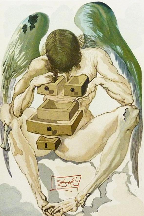 O surrealismo de Salvador Dalí ainda ecoando nas gravuras