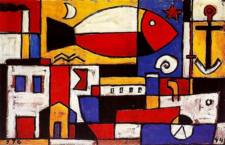 1 - As pinturas geométricas de Torres García se transformaram em ícones do Uruguai