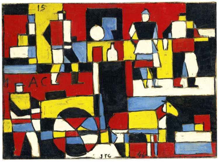 3 - Embora tenha sido influenciado pela pintura abstrata do neoplasticismo, sua obra manteve-se também na fronteira com o figurativo