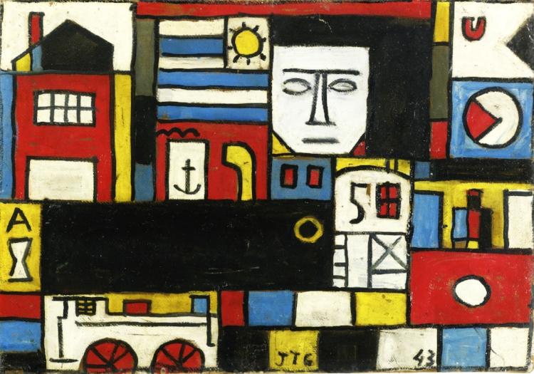 4 - O figurativo nas obras de Torres García se localiza nos símbolos que ele utilizava e não no desenho fiel dos objetos representados