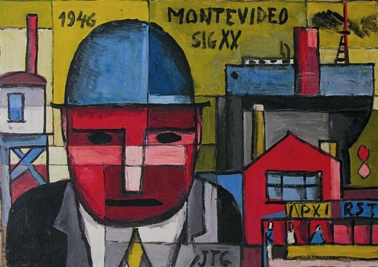 15 - Torres García ambicionava desenvolver um modernismo artístico com a cara da América do Sul