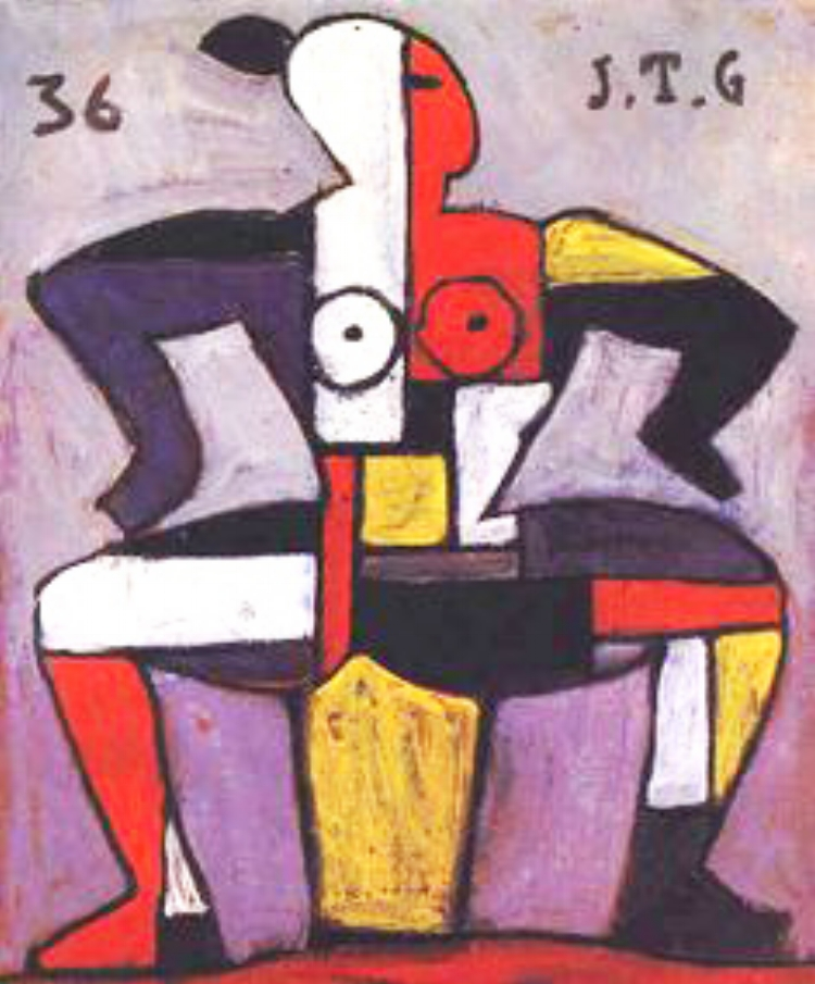 9 - Torres García se aproximou da arte pré-colombiana para chegar à pintura universal