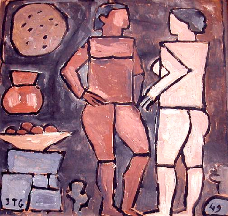 16 - A preocupação de Torres García não era com a precisão do desenho ou o apuro técnico da pintura