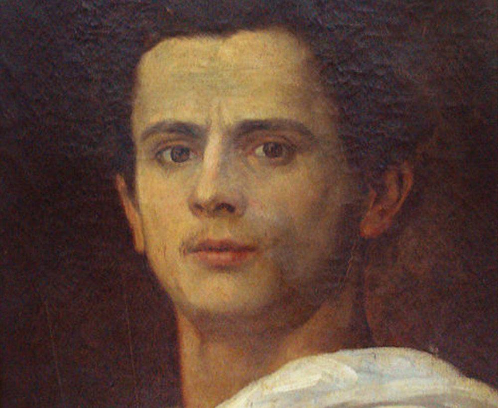 Os autorretratos de Almeida Júnior e de Gustave Courbet, respectivamente