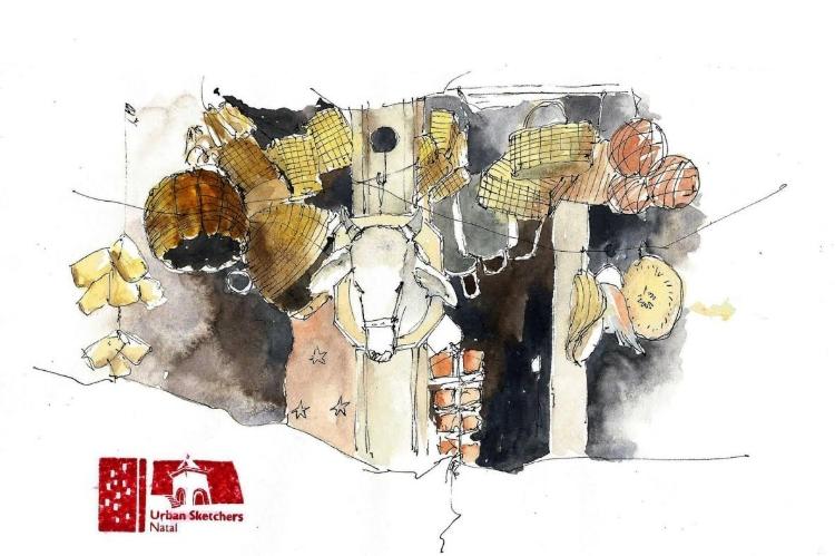 Ilustração do grupo  Urban Sketchers  Natal