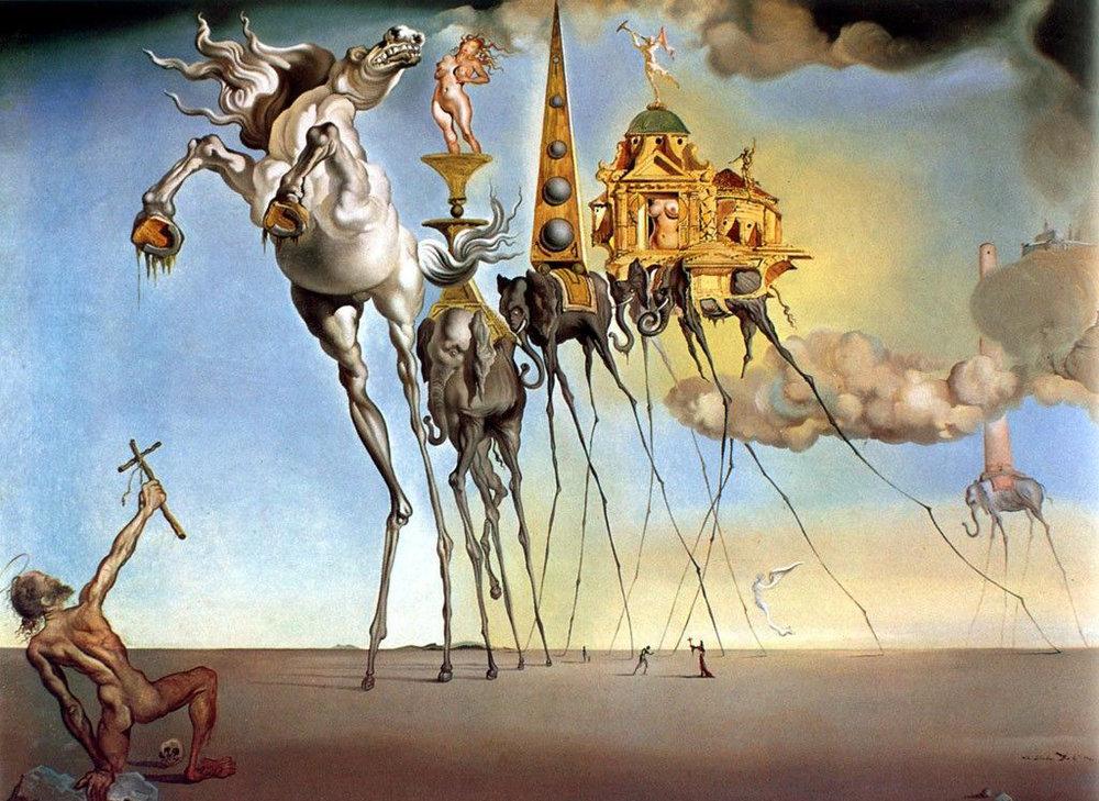 salvador-dali-pinturas-7a tentação de santo antonio.jpg