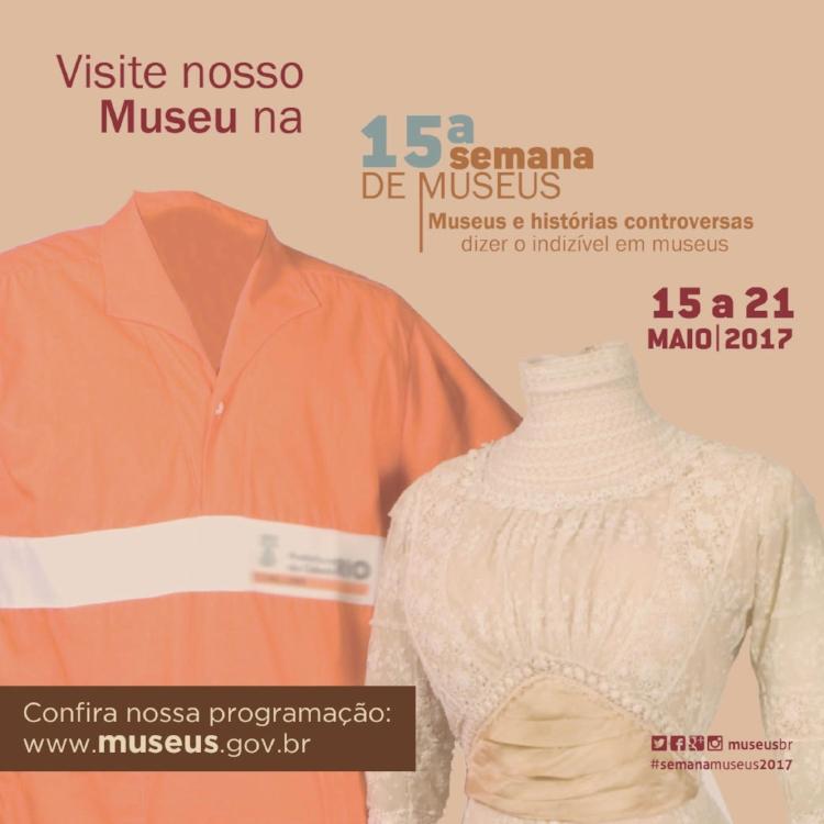 Cartaz de divulgação da 15ª Semana Nacional de Museus