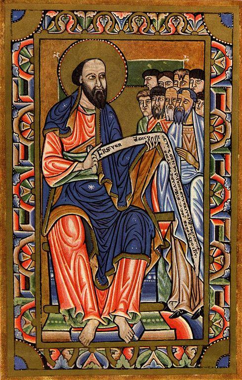 'Iluminura do Apóstolo Paulo'  (1185), de Meister aus Halberstadt, exemplo da inventividade da arte medieval