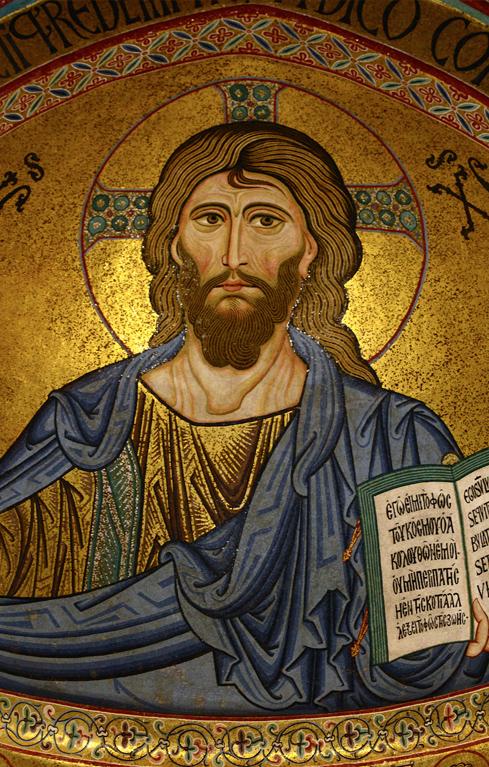 'Cristo Pantocrator' , mosaico bizantino do final do século XII