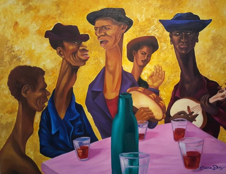 'Samba' , óleo sobre tela de Cícera Dias