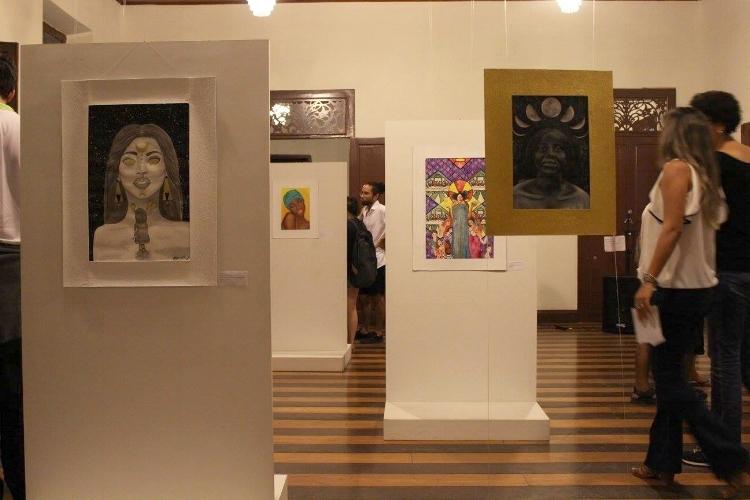 Vernissage da exposição mais recente da Galeria de Arte
