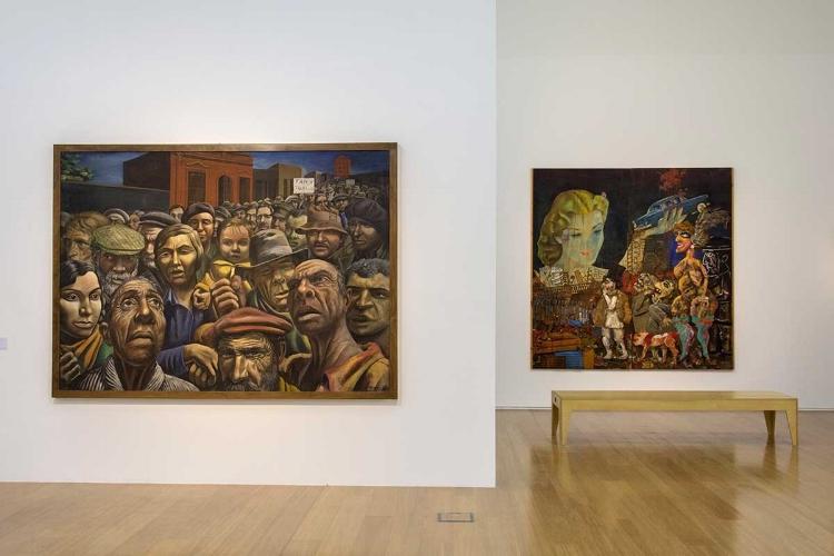 As obras mais conhecidas do artista argentino Antonio Berni também fazem parte do acervo e estão em exibição