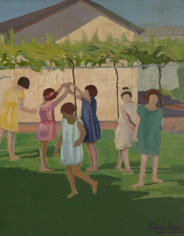 'Recreo'  (1924), óleo sobre tela de Petrona Viera