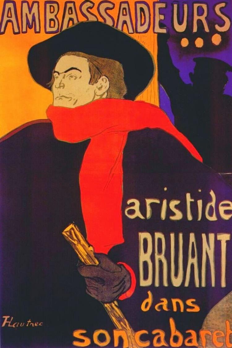 Um dos cartazes mais famosos de Toulouse-Lautrec