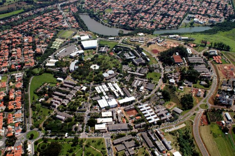 Vista aérea da Unicamp, que sediará o 26º Encontro da ANPAP