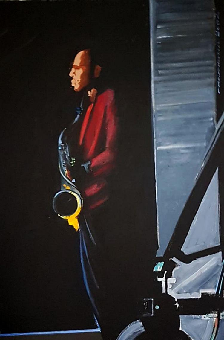 O jazz é o principal tema das telas desta exposição