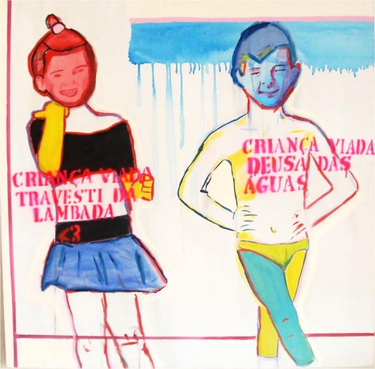 'Criança Viada Travesti da Lambada'  e  'Criança Viada Deusa das Águas'  (2013), de Bia Leite. Acusada de pedofilia. Pedofilia onde?