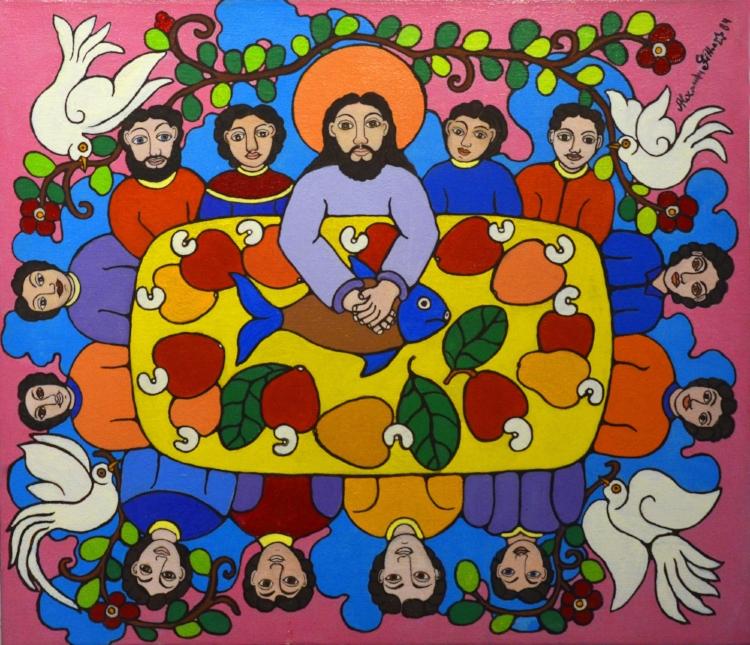Os ícones da devoção cristã do são temas recorrentes na obra de Alexandre Filho
