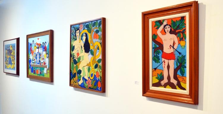 Várias telas da exposição são inéditas e fazem parte de coleções particulares