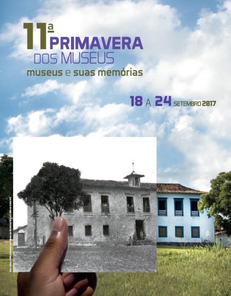 Cartaz da 11ª Primavera dos Museus, que neste ano está promovendo uma reflexão sobre as memórias das próprias instituições museais