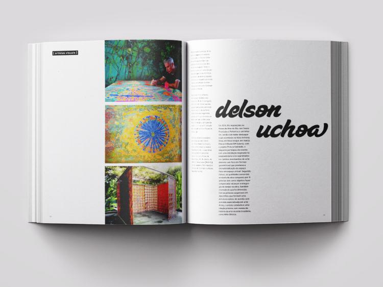 Páginas do livro Graciliano Arte dedicadas ao artista contemporâneo Delson Uchôa