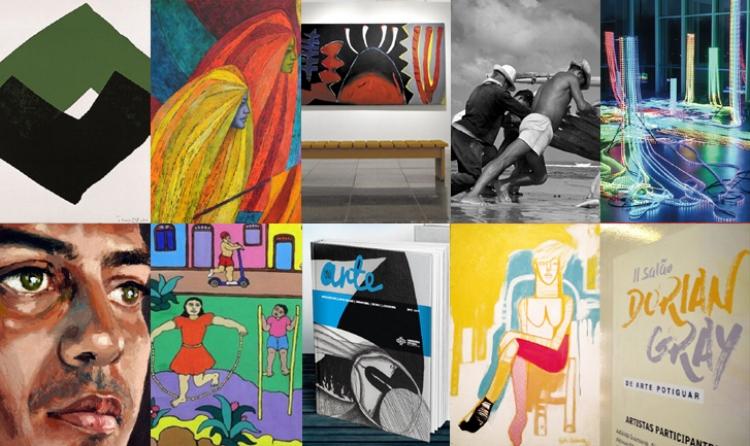 Imagens de algumas das exposições que marcaram o ano de 2017 no Nordeste