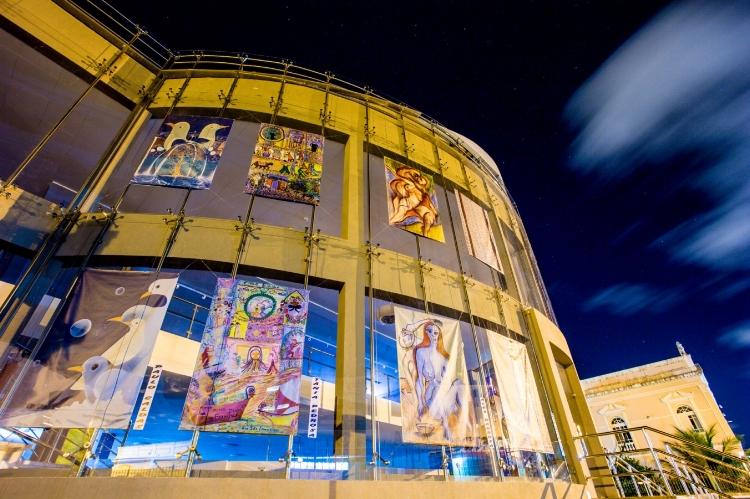 Fachada da Galeria de Artes do Complexo Cultural Teatro Deodoro