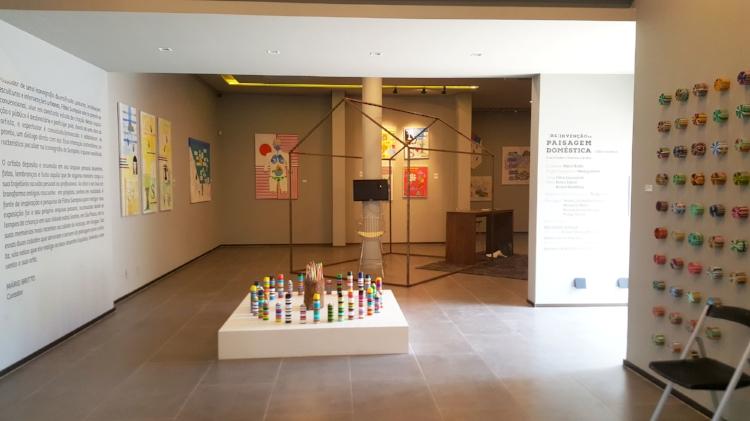 Visão geral da exposição individual de Fábio Sampaio