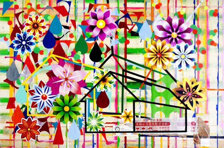 A pintura de Fábio Sampaio é uma constante invocação à memória afetiva sobre o morar/habitar