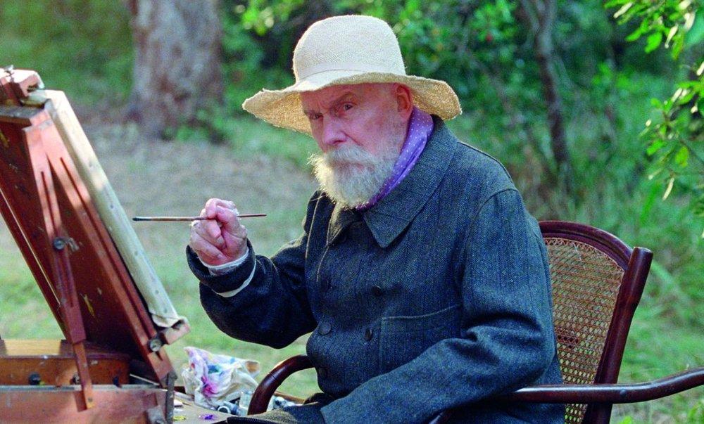 O ator Michel Bouquet, interpretando o célebre pintor francês Pierre-Auguste Renoir