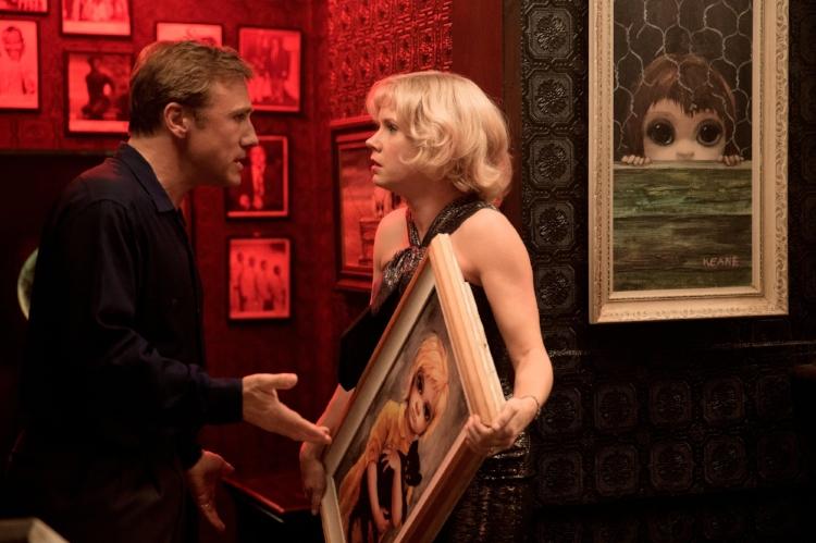 Na cena, Walter convence Margaret a abdicar da autoria de seus quadros